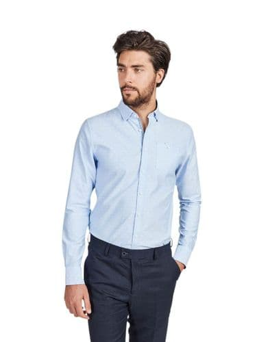 Mish Mash Men's Designer Long Sleeve Buttoned Palo Blue Casual Shirt