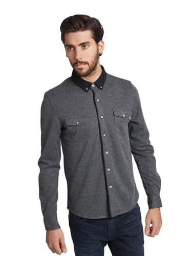 Mish Mash Men's New Designer Long Sleeve Buttoned Casual Shirt Grey