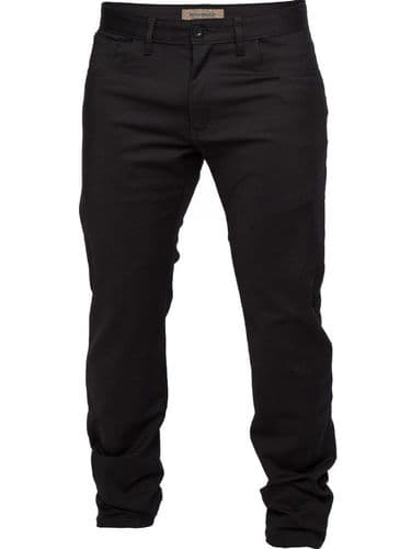 Mish Mash Mens Black Tapered Fit 5 pocket western Trousers