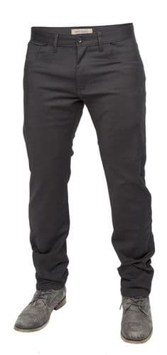 Mish Mash Mens Designer Hot Shot Black Straight Tapered Fit Chino Jeans Trousers