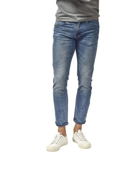 Mish Mash Mens Jeans Held Light Blue Regular Thigh Tapered Fit Stretch