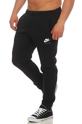 Nike Mens Black Slim Tapered Fit Jogging Bottom Track Pants