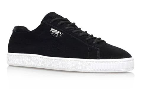 Puma Classic Deconstruct Mens Retro Black Suede Sneakers white sole RRP £65