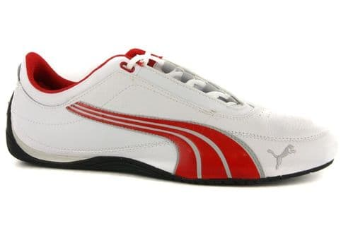 Puma New Drift Cat 4 White Red Mens Leather Trainers Running Shoes Sneakers Cat