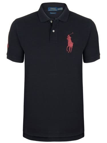 Ralph Lauren Polo Shirt Short Sleeve PK Black Red