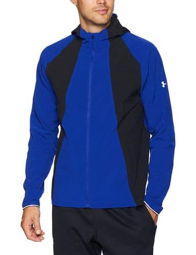Under Armour Men's Outrun Hooded  Jacket Formation Blue Reflective