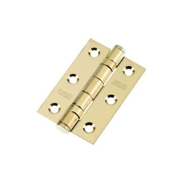 """3"""" Ball Bearing Hinges. Polished Brass"""