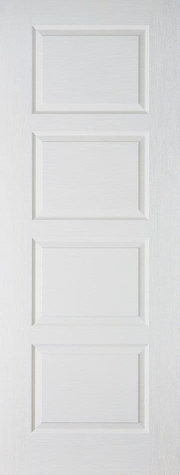 White Moulded Contemporary Fire Door (4P)