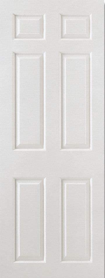 White Moulded Smooth Square Top (6P)