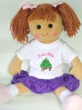 Personalised Christmas Doll Amber