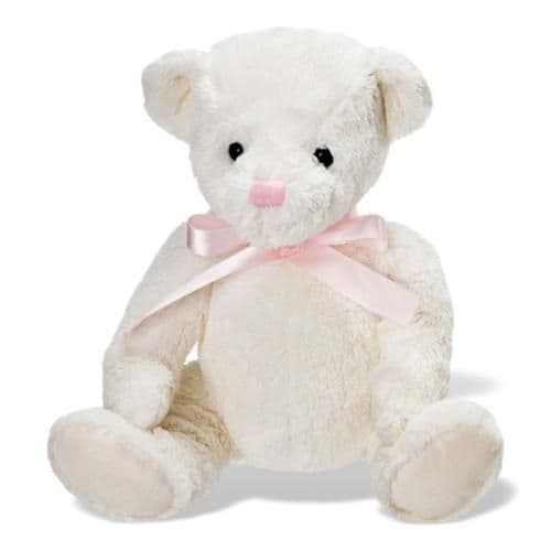 Personalised Lullaby Bear -  Pink Bow