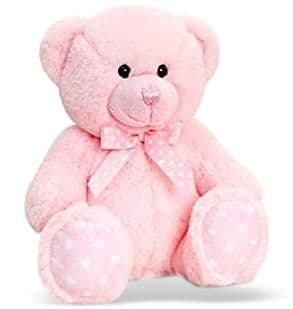 Personalised Pink Baby Teddy Bear
