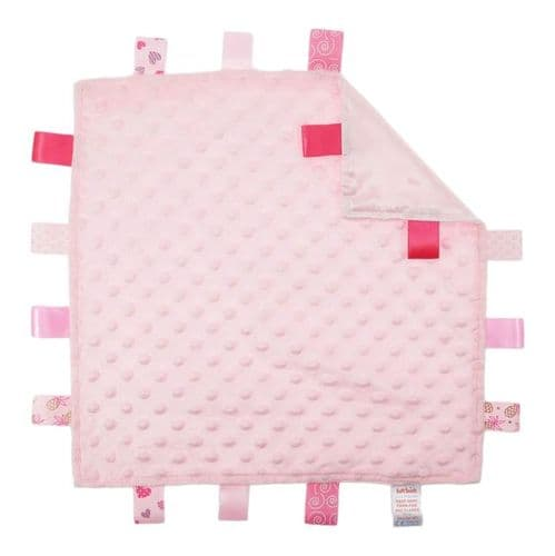 Personalised Pink Taggy Blanket