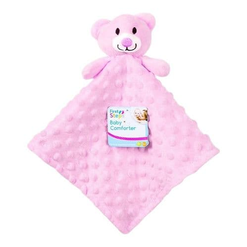 Personalised Pink Teddy Comforter