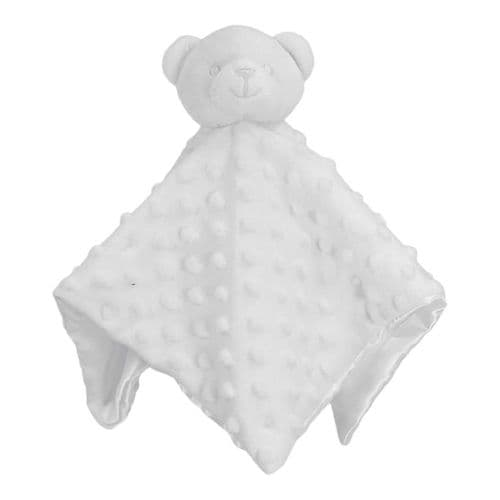 Personalised White Dimple Teddy Comforter