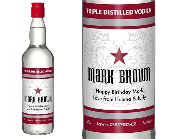 Personalised Classic Vodka | Personalised Gifts | The Present Season