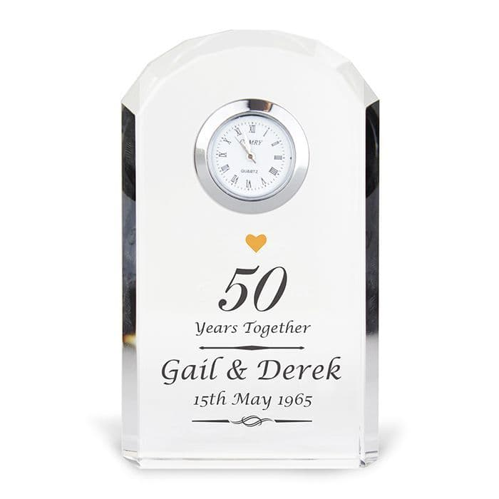 Personalised 50th Wedding Anniversary Clock | Personalised Gifts - The Present Season