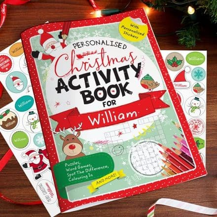 Personalised Christmas Activity & Sticker Book
