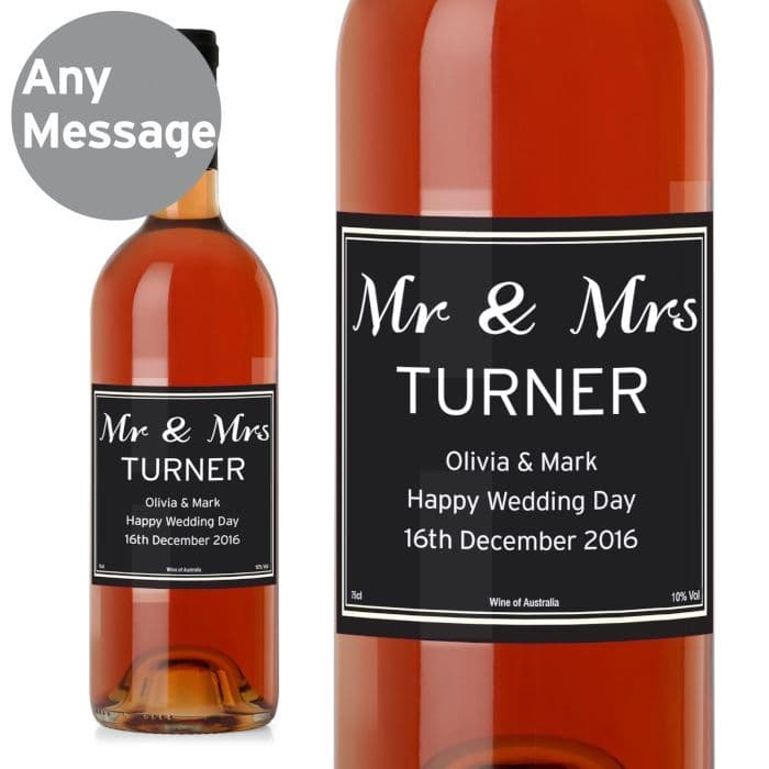 Personalised Classic Bottle Rose Wine | Personalised Gifts | The Present Season