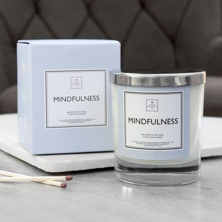 Personalised Mindfulness Natural Soy Wax Scented Candle