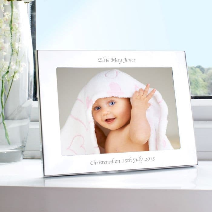 Personalised Silver 5x7 Landscape Photo Frame | Personalised Gifts | Contemporary Gifts - The Present Season