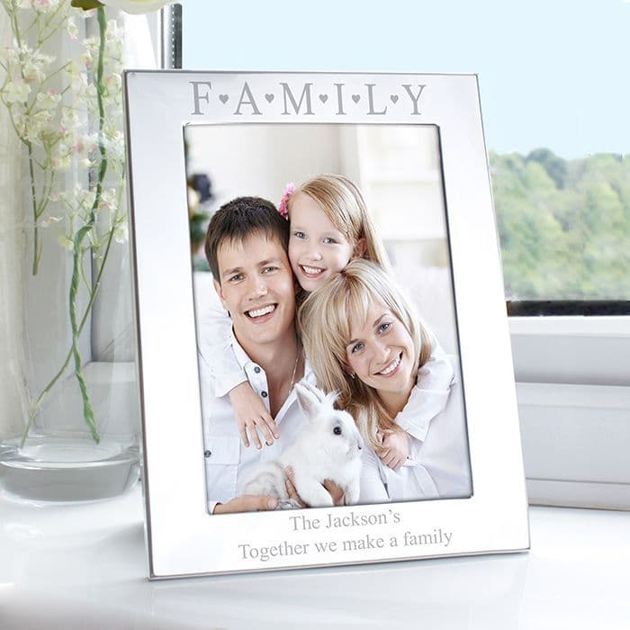 Personalised Family Silver 5x7 Photo Frame | Personalised Gifts | Contemporary Gifts - The Present Season