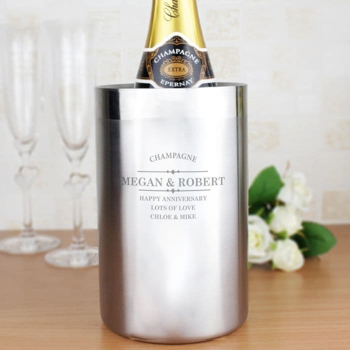 Personalised Stainless Steel Wine Cooler | Personalised Alcohol Gifts | The Present Season