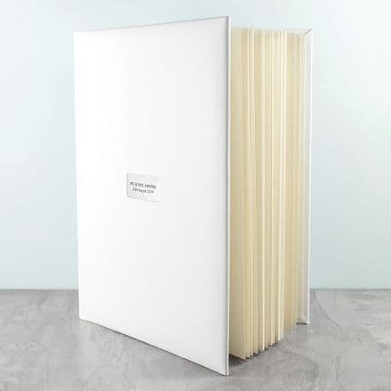Personalised White Leather Photo Album - Large