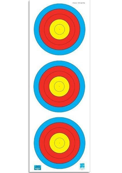 FITA Targets by JVD, 3 x 20cm Vertical Compound Bow Targets