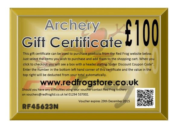 Red Frog £100 Gift Certificate