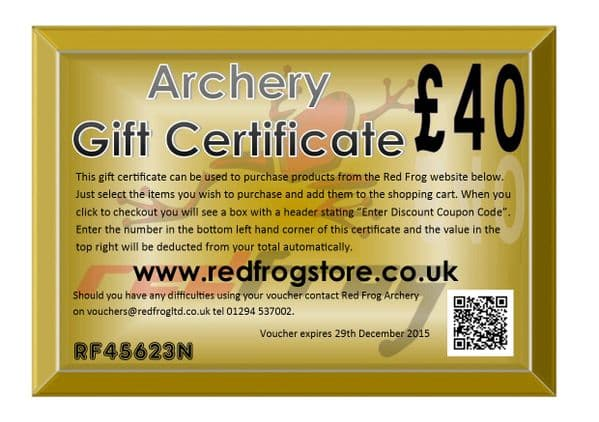Red Frog £40 Gift Certificate