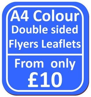 A4 Double Sided Flyers Leaflets