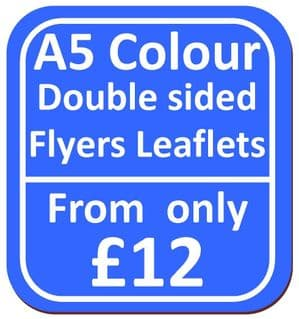 A5 Double Sided Flyers Leaflets