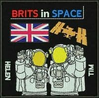 'Brits in Space' Limited Edition  Patch