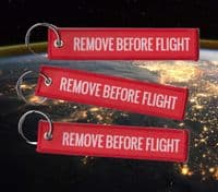 'Remove before Flight' Classic key ring