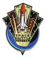 "10"" NASA Space Shuttle 30 Years Program Commemorative Embroidered Patch"