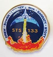 133- NASA STS-133 Official Space Mission Pin (with Stephen Bowen)