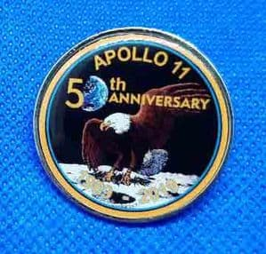 Apollo 11 50 Years 'Eagle' 30 mm dia. Lapel Pin