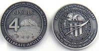 Apollo 16 40th Anniversary Medallion with Space Flown Metal