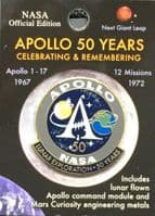 Apollo Program 50 Yrs Lunar Exploration  - Pin #3