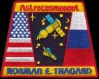 Astrocosmonaut Norman Thagard Embroidered Patch