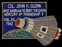 Astronaut John Glenn Commemorative Patch #2
