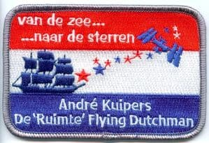 Commemorative André Kuipers Embroidered Patch (Dutch version)