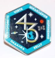 Expedition 43 ISS International Space Station Mission Lapel Pin Official NASA