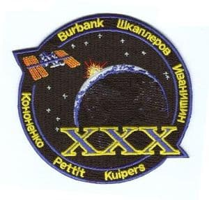 International Space Station Expedition 30 Embroidered Patch
