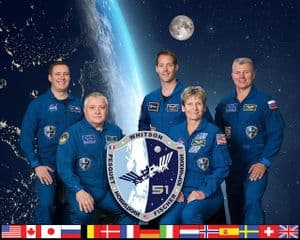International Space Station Expedition 51 Official Crew Portrait