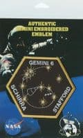 Larger Size NASA Gemini 6 Space Mission Embroidered Patch