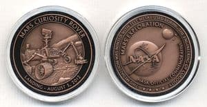 Mars Exploration - Official NASA Commemorative - Curiosity Rover Minted with Test Metal