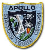 "NASA Apollo 10 Embroidered 4"" Mission Patch"