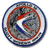 NASA Apollo 15 Embroidered Mission Patch 4""